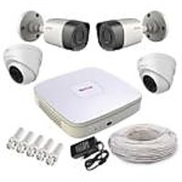 Cp Plus 2 Dome Camera  2 Bullet Camera  +4 Channel Dvr + Connectors + Power Supply+ Hard Disk + Wires Combo