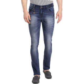 Fever Blue Lycra Denim Solid Jeans