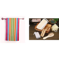 Furnishing king Combo one bath towel  with one bath essential kit