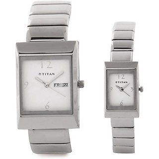 Titan 19572957SM01 Bandhan Analog Watch  - For Couple