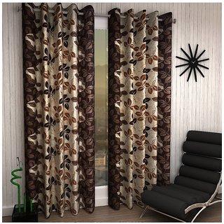 Home Castle Polyster Trendy Opaque Designer Set of 2 Door Curtain