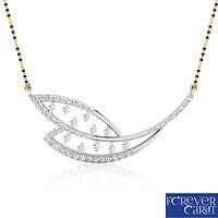 0.60ct Natural White Diamond Mangalsutra 925 Sterling Silver Mangalsutra M-0005
