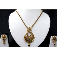 Coconut Shape Pendant Chain Necklace Set