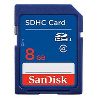 SanDisk SDHC Cards, 8GB , For Digital Photo, Video, Camera