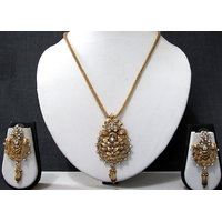 Leaf Banch Chain Pendant Necklace Set