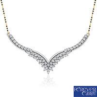 0.57ct Natural White Diamond Mangalsutra 925 Sterling Silver Mangalsutra M-0014