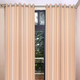 Akash Ganga Polyester Multicolor Eyelet Door Curtains (Set of 4) (7 Feet) CUR4-ST-346-7