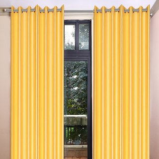 Akash Ganga Polyester Multicolor Eyelet Door Curtains (Set of 4) (7 Feet) CUR4-ST-356-7