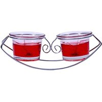 Sunvi Votive Red Sea-Saw Candle(Red, Pack Of 2)