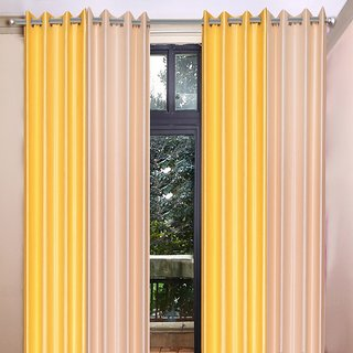 Akash Ganga Polyester Multicolor Eyelet Door Curtains (Set of 4) (7 Feet) CUR4-ST-362-7