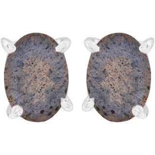 Labradorite Oval Studs By Silver Planets