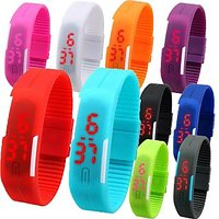 LED BAND WRIST WATCH BUY 1 GET 1 FREE.