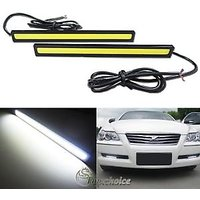 Xenon White Car COB LED DRL Daytime Running Lamps Fog Light
