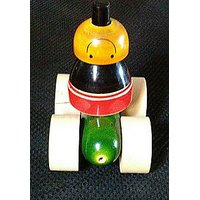 wooden stacking joker ride toy
