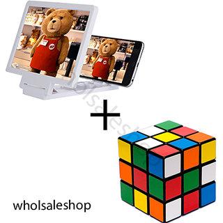 Rubike cube  3d Phone Magnifier