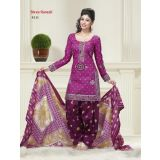 Womens Latest Top Fashion Cotton Dress Material Multicolor Salwar Suits En