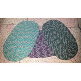 Oval Shape Both Side Use-able Rusty Cotton Door Mat (BUY 1 GET 1 FREE OFFER)