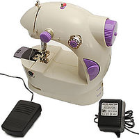 Mini Sewing Machine Portable 4 In 1 With Adapter & Pedal - H4SM1 - 2737792
