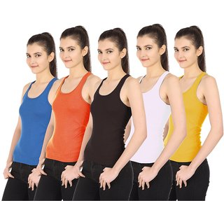 Friskers Cotton Womens Pack of 5 Spaghetti