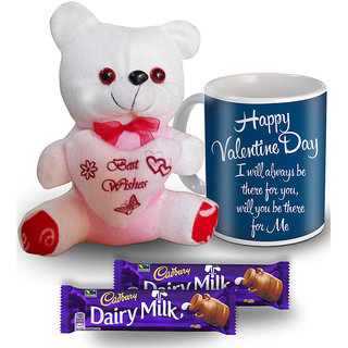 I Will Always Be There For You Mug Teddy And Chocolate Valentine Gift Set