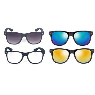 Fashno Multi Style Wayfarer Sunglasses ( Pack Of - 4 )