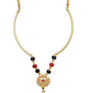 Sushito Multicolor Chand Fancy Pipe Thushi Necklace JSMJWNL0227