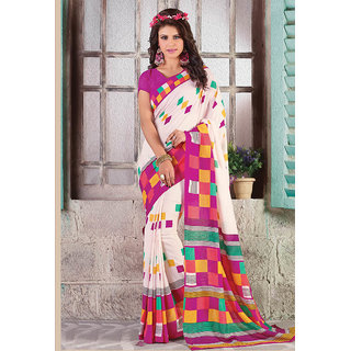 Vastrani Multicolor Silk Printed Casual Wear Saree 150S10107