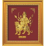 Gift Item -Maa Durga Frame -Showpiece -Wall Decor -24K Gold Sheet Artwork