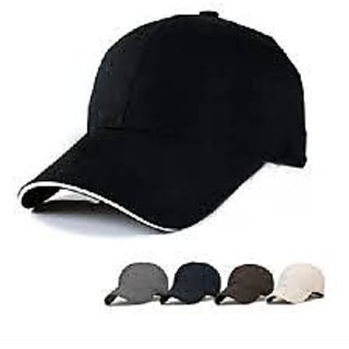 Mens Black and White Color Stylish Caps