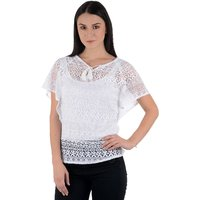 Westrobe Womens White Cotton Crochet Top