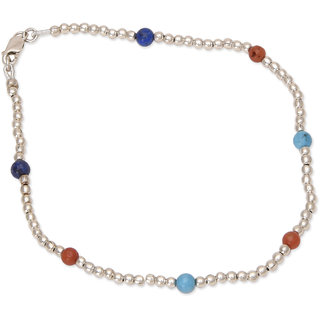 925 Sterling Silver Anklet for women Cute Colourful Anklet