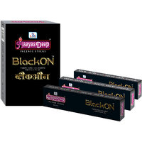 MaayasDeep BlackOn Incense Sticks-Pack Of 8 Regular Pack-Total Approx-120 Sticks