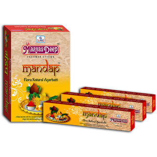 MaayasDeep Mandap Incense Stick-Masala Flora-Pack Of 8 Regular Pack-Total Approx-120 Sticks
