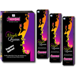 MaayasDeep Night Queen Agarbatti-Raat Rani Fragrance-Pack Of 8 Regular Pack-Total Approx-120 Sticks