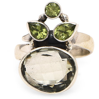 925 Sterling Silver Ring for women Elegant Little Green Ring