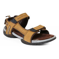 Red Chief MenS Tan Casual Velcro Sandals (RC213 RUST)
