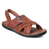 Red Chief MenS Tan Casual Velcro Sandals (RC391 D.TAN)