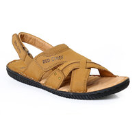 Red Chief MenS Tan Casual Velcro Sandals (RC391 RUST)