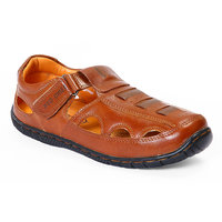 Red Chief MenS Tan Casual Velcro Sandals (RC547 G.TAN)