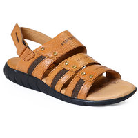 Red Chief MenS Tan Casual Velcro Sandals (RC631 TAN)