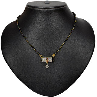 Pourni American Diamond Tanmaniya Mangalsutra for women- PRMS05