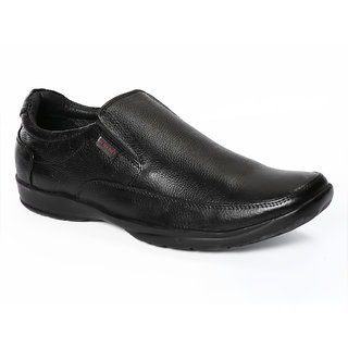 Red Chief MenS Black Formal Slip On Shoes (RC1091 Black)