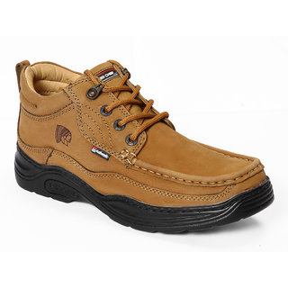Red Chief MenS Tan Casual Lace-Up Shoes (RC1211 RUST)