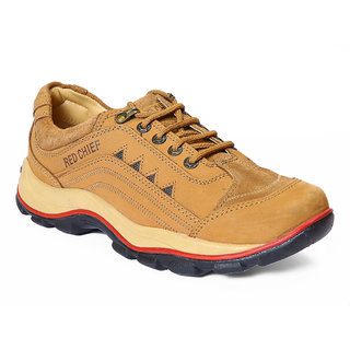 Red Chief MenS Tan Casual Lace-Up Shoes (RC2015 RUST)