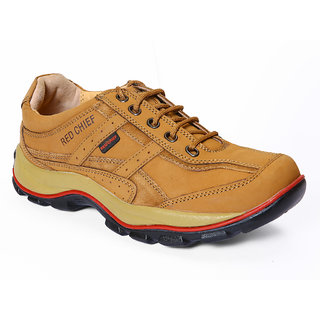 Red Chief MenS Tan Casual Lace-Up Shoes (RC2020 RUST)