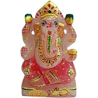 Shree Sai Art Stone Religious Idol Painted Ganesh