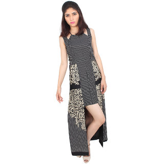 The Hashtag couture Printed Long Short Dress