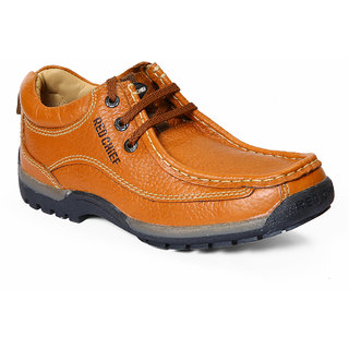 Red Chief MenS Tan Casual Lace-Up Shoes (RC2104 ELEPHANT TAN)
