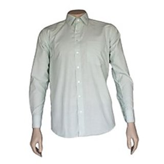 Saffire Green Colored Cotton Rich Formal Shirt