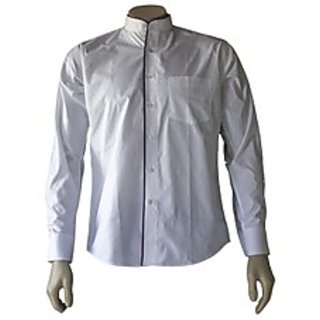 Saffire White Colored Cotton Polyester Formal Shirt (Option 2)